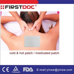 2015 new sample China Golden supplier herbal muscle pain relief patches