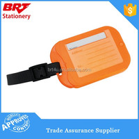 Hot selling clear color plastic luggage tags