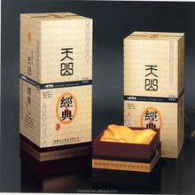 Mellow wine box for 375ml the box with Chinese wine bottle and corrugated cardboard wine box