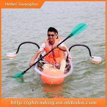 Wholesale/retailer mini double plastic fishing boats/fishing boat/clear kayak/transparent kayak