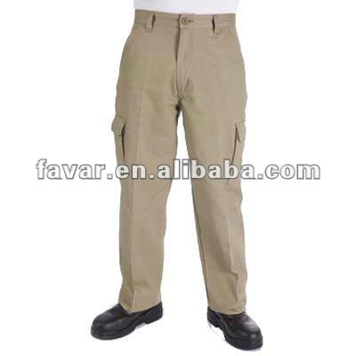 Para hombre pesado Industrial de algodón taladro de carga pantalones de ropa de trabajo de color caqui de diseño de carga pantalones
