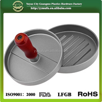 Aluminum Round Patty Mold Maker with wooden handle Meat Patty Press mould Maker Hamburg Maker