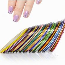 New 10 Pcs Mixed Colors Nail Rolls Striping Tape Line DIY Nail Art Tips Decoration Sticker Nails Care Sticker