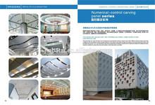 filipinas la decoración de la construcción de muro cortina de aluminio