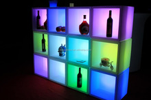 2015 hot sale disco rechargeable led wine rack