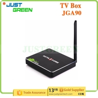 JGA90 android media player Android 5.1 RK3368 octa cores 2GB 16GB WIFI Ethernet GMAC multi languages Android TV Box