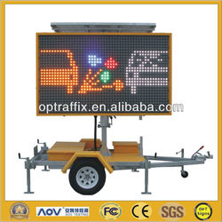 OPTRAFFIC VMS-400-3 Led Outdoor Full Color Display Advertisement Trailer,Solar Power Portable VMS Trailer