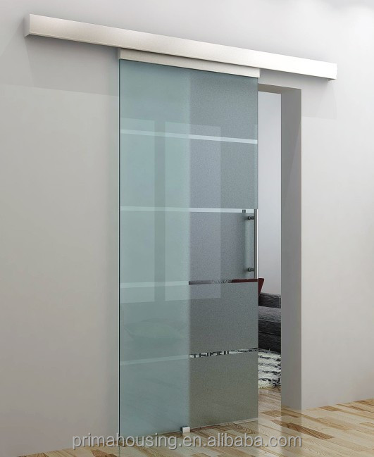 Sliding bathroom glass door sliding frameless tempered for Glazed sliding doors
