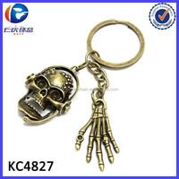 Retro creative skull pendant ghost hand key chain