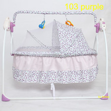 Metal frame cotton fabric auto baby rocker swing bed baby cradle cot bed electric bassinet hammock crib wholesale China