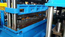 glazed tile making machine best price with promotion PLC , full hydraulic system sold to Europe