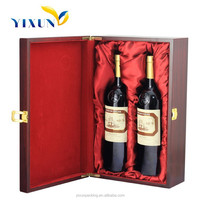 Wholesale New Style Portable Wooden 2-bottle Wine Carrier