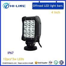 4 Inch 36 Watt Off Road Truck LED Light Bar 4 Rows Quad Row led Light Bar