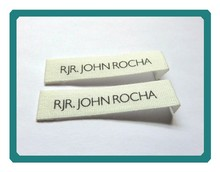 White color high density custom clothing woven label