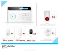 DHL Free Shipping LCD display GSM Security Alarm System Home Burglar Alarm System for House /office /Store Protection