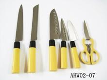 2015 best kitchen knife set in pp handle,Japanese knives set