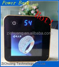 Double USB Metal 10400mah Plastic hot sale GradeA best price with digital display New Manufacturer Retail magic cube Powe bank