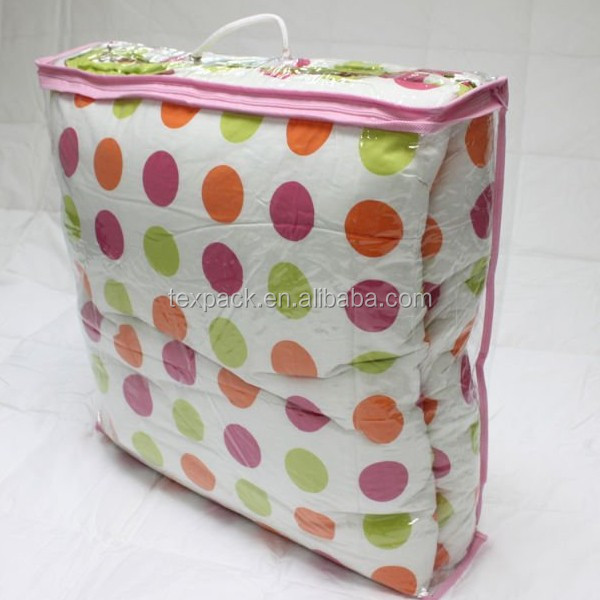 High Quality Pvc Bedding Packaging Bag With 2pcs Rope