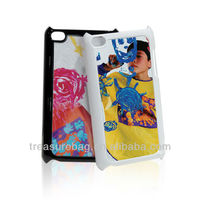 TUP protective case with sublimation metal sheet for ipod touch5