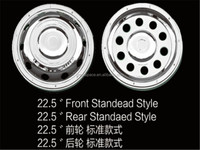 22.5 stainless steel universal wheel side cover for car