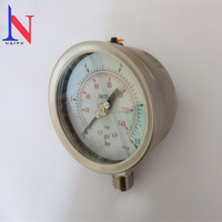 All stainless steel WIKA type removable bezel liquid type pressure gauge