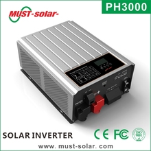 New design pure sine wave must solar on grid off grid combined solar energy inverter 3000w
