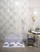 Venta al por mayor baño ducha peva cortina materiales baño ecológico cortina