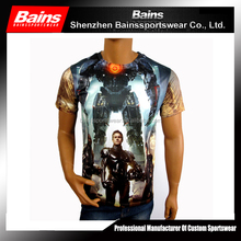 Custom all over sublimation printing t-shirt
