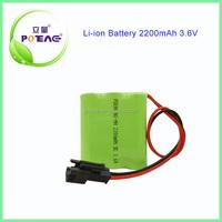 on sale 3.6V NI-MH Battery pack AA 2200mAh
