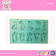 New Heart Numbers Silicone molds For Cake Decoration
