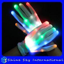 High Quality Factory Price Unique Rainbow Flashing Led Xbone Gloves