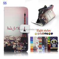 For Samsung Galaxy S5 Printed Wallet Stand Leather Flip Case Cover Wholesale
