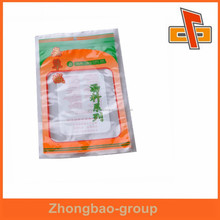 Free sample china factory OEM transparent plastic food packaging heat sealable bag with high quality for soup bases