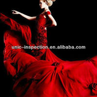 Wedding dress inspection service/garment inspection company/quality control in apperal