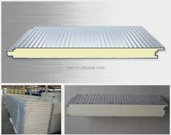 pu clean room wall panels/pu foam sandwich panel clean room