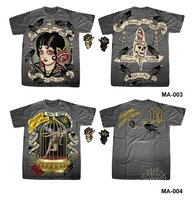 wholesale tattoo ink art style t-shirt rock emo punk