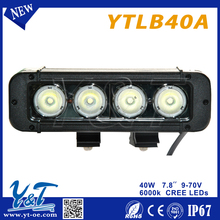 """New Product Automobile off road 12 volt 7.8"""" 40W Curved off road led light bar auto tuning light"""