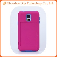 Silicone PC combo mobile phone case for Samsung galaxy note 4