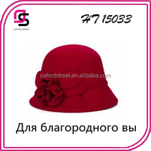 Fashionable temperament elegant female ribbon with roses Fedora Hats for shopping