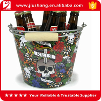 Custom design insulated large ice champagne bucket with handle