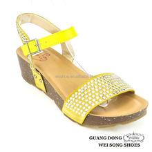 beautiful colors rhinestone oranment ankle strap buckle adjustable sandals high heel women sandals