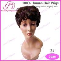 Fashion Short Natural Brown Curly African American Human Hair Wigs Professional Manufacturer
