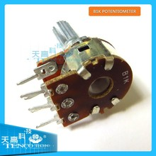 6mm Split Shaft Top Adjustment Rotary Linear Potentiometers B1K