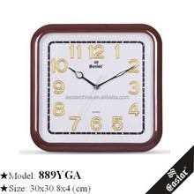 Square cheap gift promotion wall clock themes for gift promotion decoration square clock dial