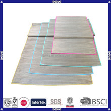 OEM color and size customized hot sell straw beach mat wholesale