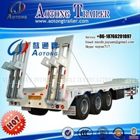 China manufacturer attractive price 3/4/5 axles 50/80/100 tons heavy duty trailer low flat bed semi trucks and trailers for sale