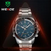 WEIDE WH903 Branded Wrist Watch Full Steel Watch Black Alarm Waterproof Men's Sports Outdoor Quartz Wrist Military Watches