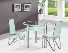 NEW style round glass dining table set