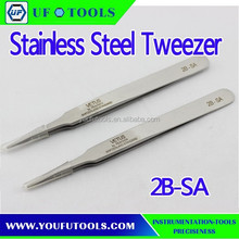 2B-SA Conductive High Precision Stainless Steel Tweezer ,Strong Tip Precision Point Tweezer