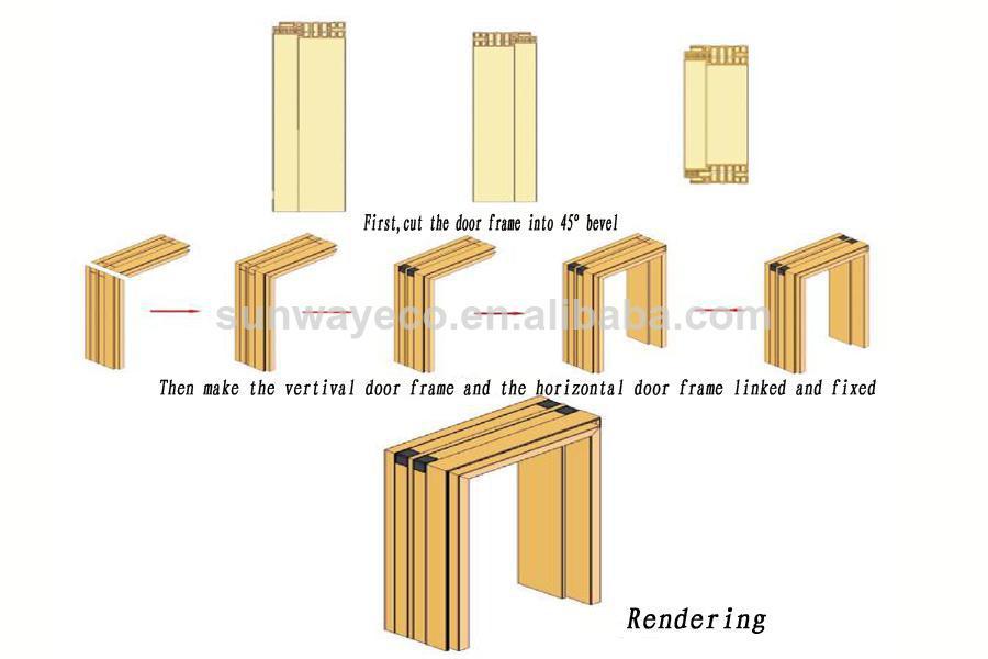 A Types Interior Wpc Pvc Door Frames (tcf-140a) - Buy Pvc Door Frame ...